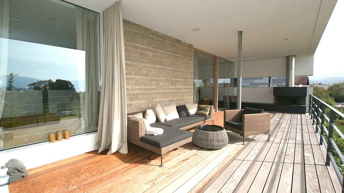 Modernes Haus Mit Flachdach Im Salzburger Seenland Hessl